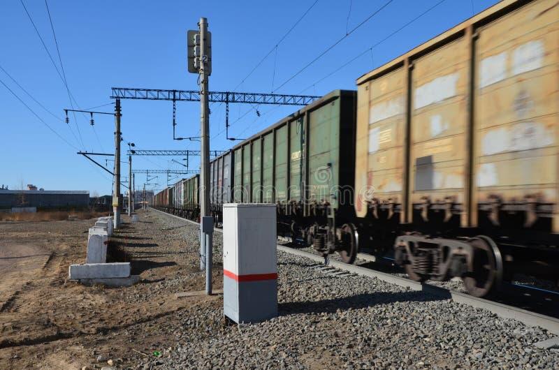 Poruszający pociąg obraz stock