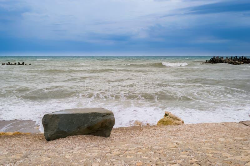Poruszony morze po burzy obrazy royalty free