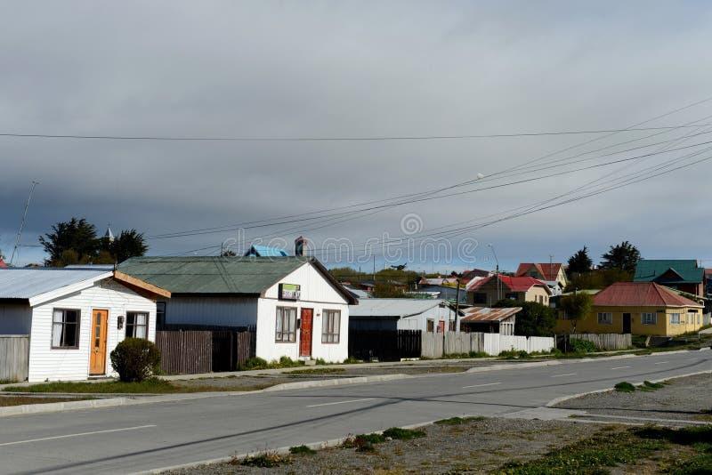 Porvenir è un villaggio nel Cile sull'isola di Tierra del Fuego fotografie stock