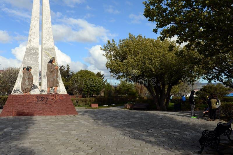 Porvenir é uma vila no Chile na ilha de Tierra del Fuego O centro administrativo da municipalidade e da província o imagens de stock royalty free