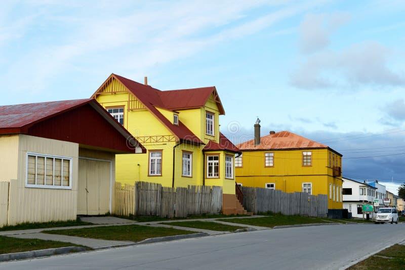 Porvenir est un village au Chili sur l'île de Tierra del Fuego photo libre de droits