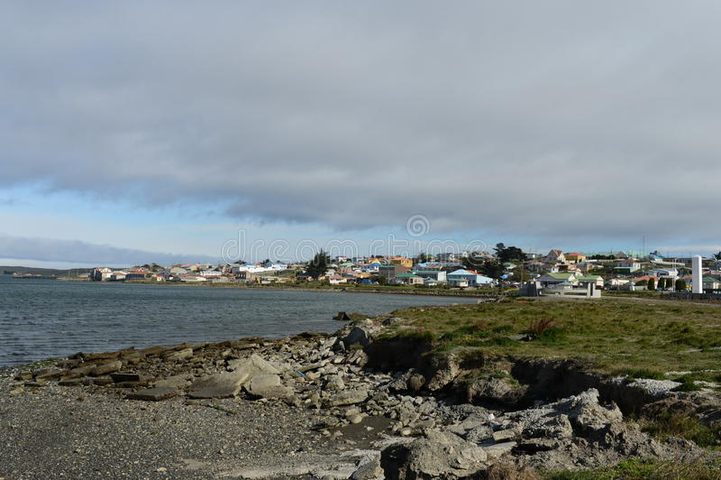Porvenir est un village au Chili sur l'île de Tierra del Fuego photo stock