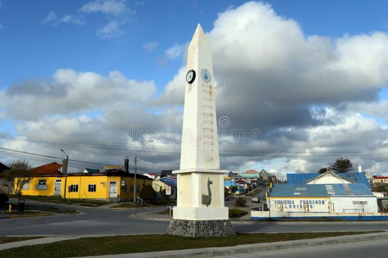 Porvenir est un village au Chili sur l'île de Tierra del Fuego images libres de droits