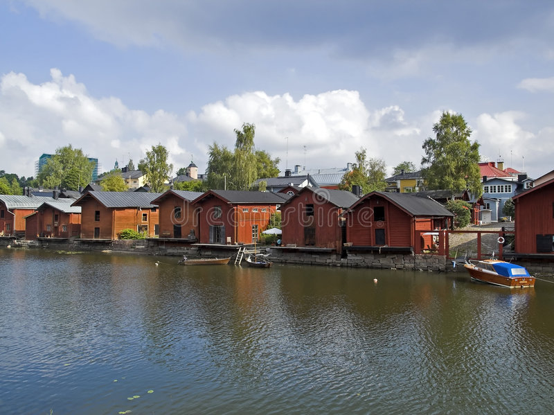 Download Porvoo, Finland stock image. Image of riverside, tourist - 2448121