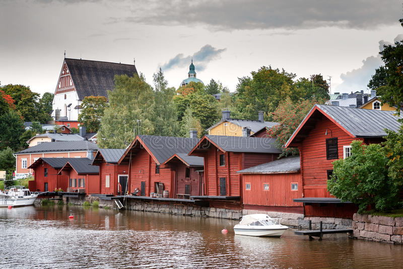 Porvoo finland royaltyfri fotografi