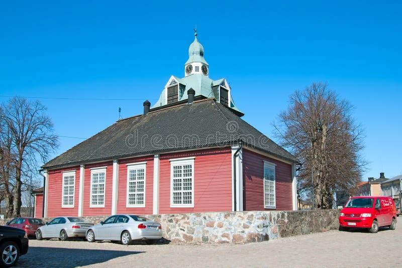 Porvoo finland Piccola chiesa fotografie stock libere da diritti