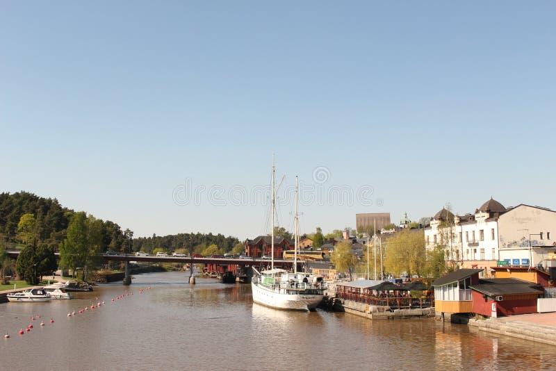Porvoo flod fotografering för bildbyråer