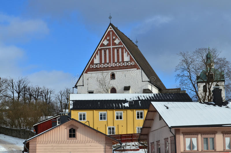 Porvoo Old Town, Finland. stock photo