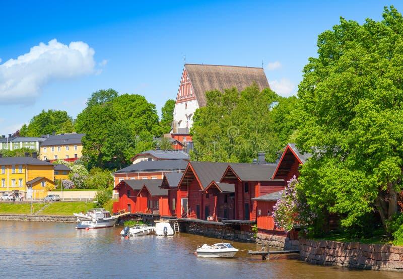 Porvoo Pequeña ciudad histórica en Finlandia foto de archivo