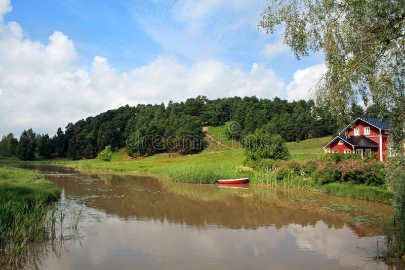 Download Porvoonjoki river stock photo. Image of summer, reflection - 14221466