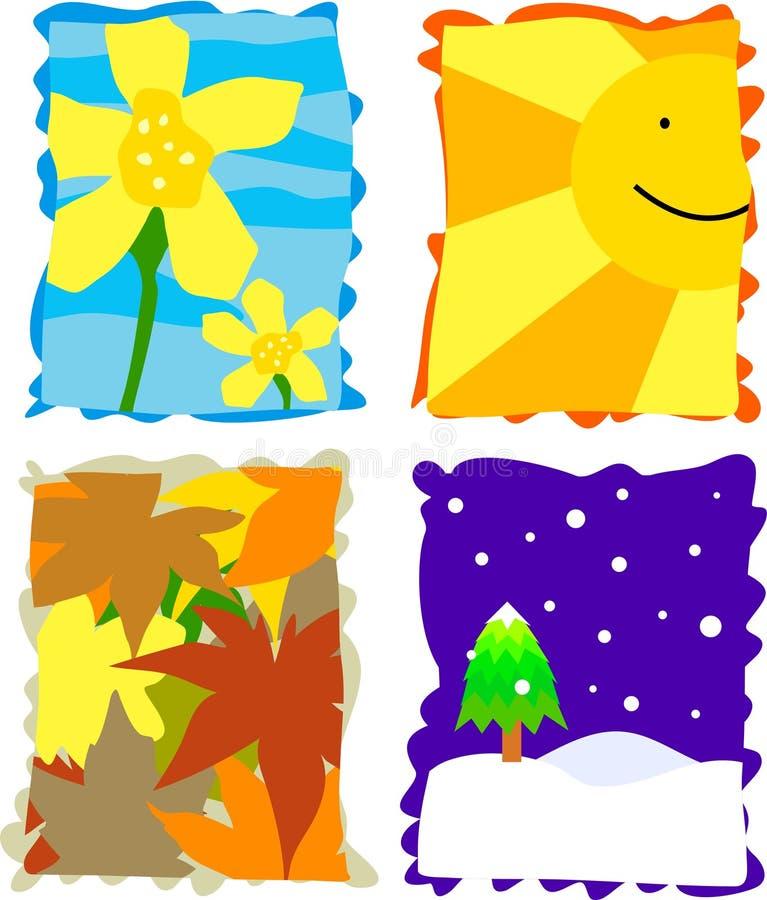 pory roku ilustracja wektor