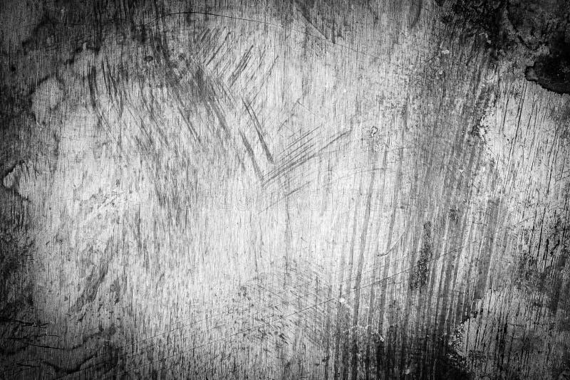 Porysowana brudna zakurzona miedzianego talerza tekstura, czarny i biały wizerunek obrazy stock