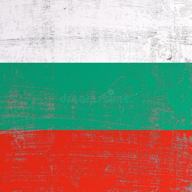 Porysowana Bułgaria flaga ilustracja wektor