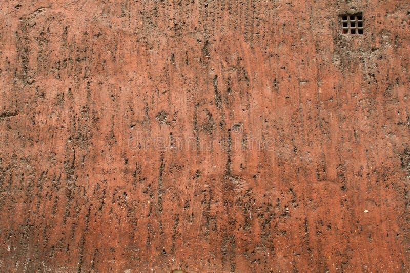 Porysowana Czerwona wieśniak ściany tekstura fotografia royalty free