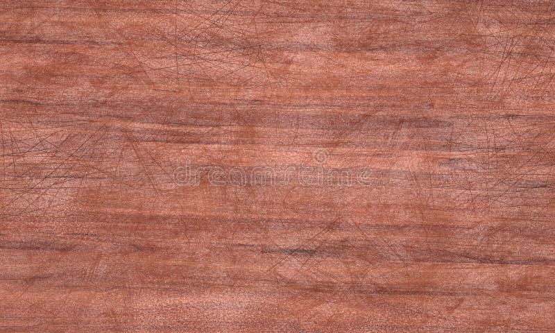 Porysowana drewniana tekstury 3D ilustracja ilustracja wektor