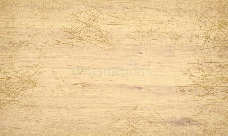 Porysowana drewniana tekstury 3D ilustracja royalty ilustracja