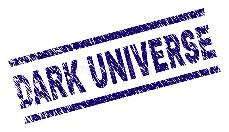 Porysowana Textured CIEMNA wszechświatu znaczka foka ilustracji