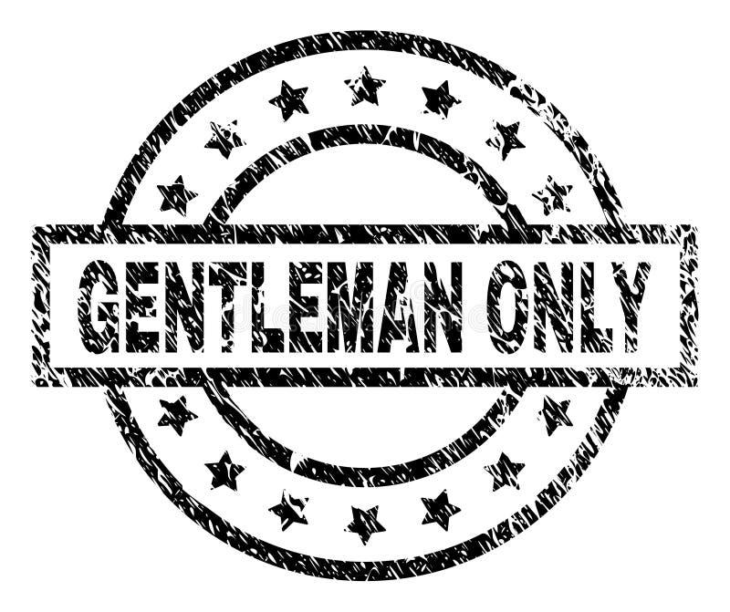 Porysowana Textured dżentelmenu znaczka TYLKO foka royalty ilustracja