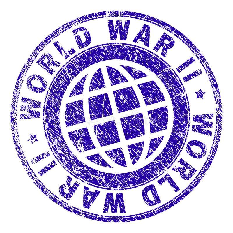 Porysowana Textured druga wojna światowa znaczka foka ilustracja wektor