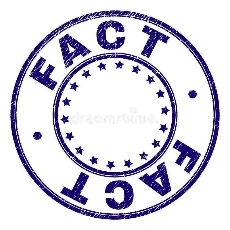 Porysowana Textured fact Round znaczka foka ilustracja wektor