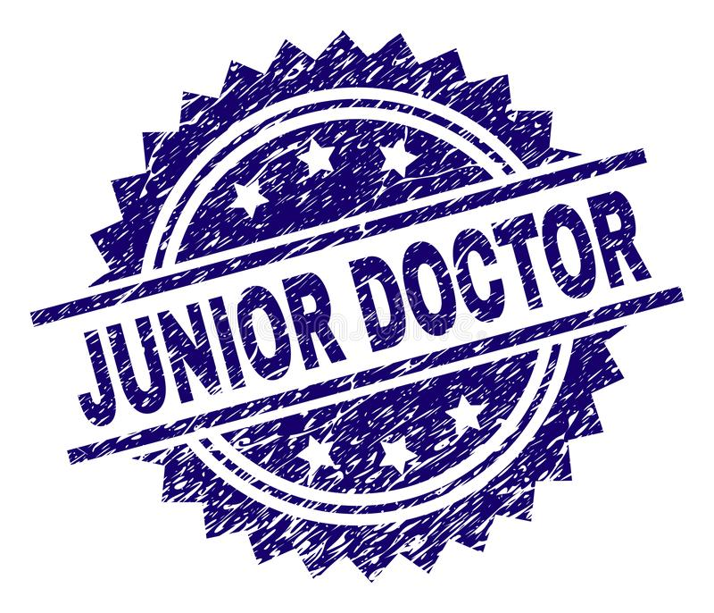 Porysowana Textured junior lekarki znaczka foka ilustracja wektor