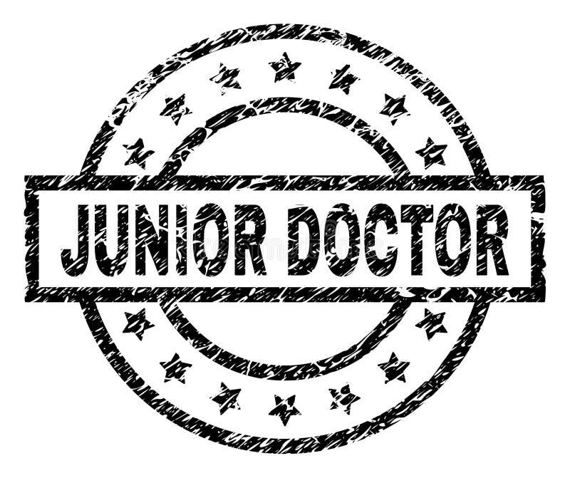 Porysowana Textured junior lekarki znaczka foka ilustracji
