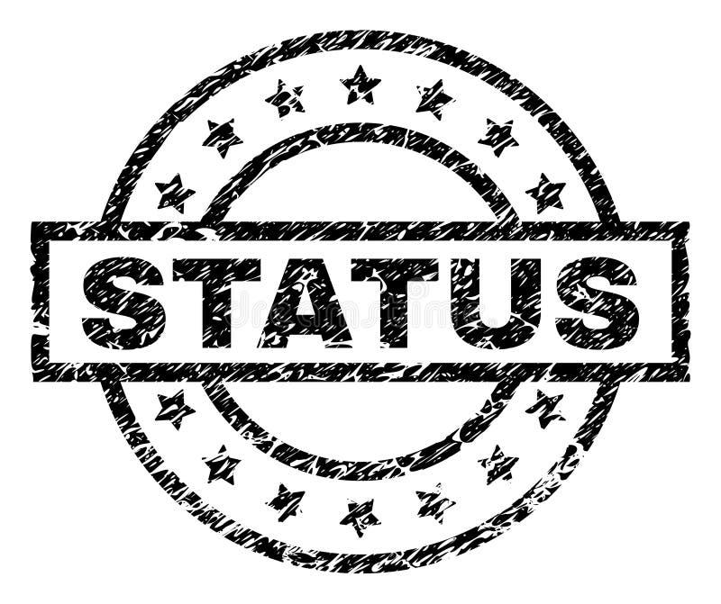 Porysowana Textured statusu znaczka foka ilustracji