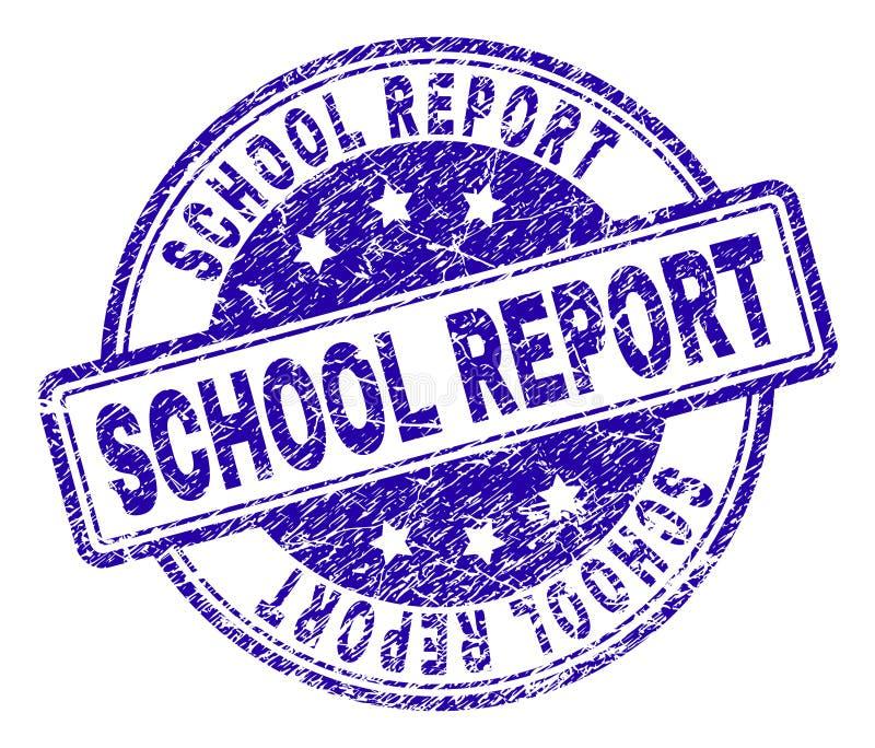 Porysowana Textured szkoła raportu znaczka foka ilustracja wektor