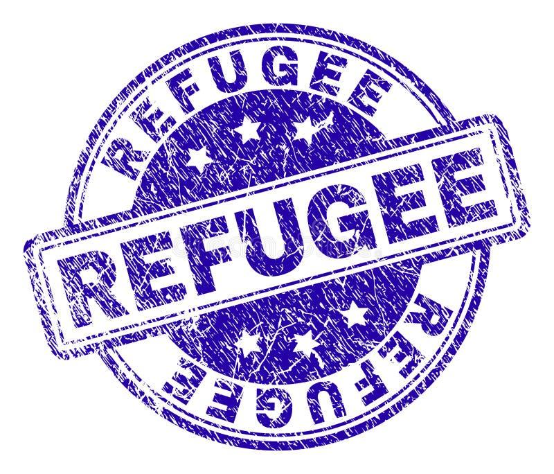 Porysowana Textured uchodźcy znaczka foka royalty ilustracja
