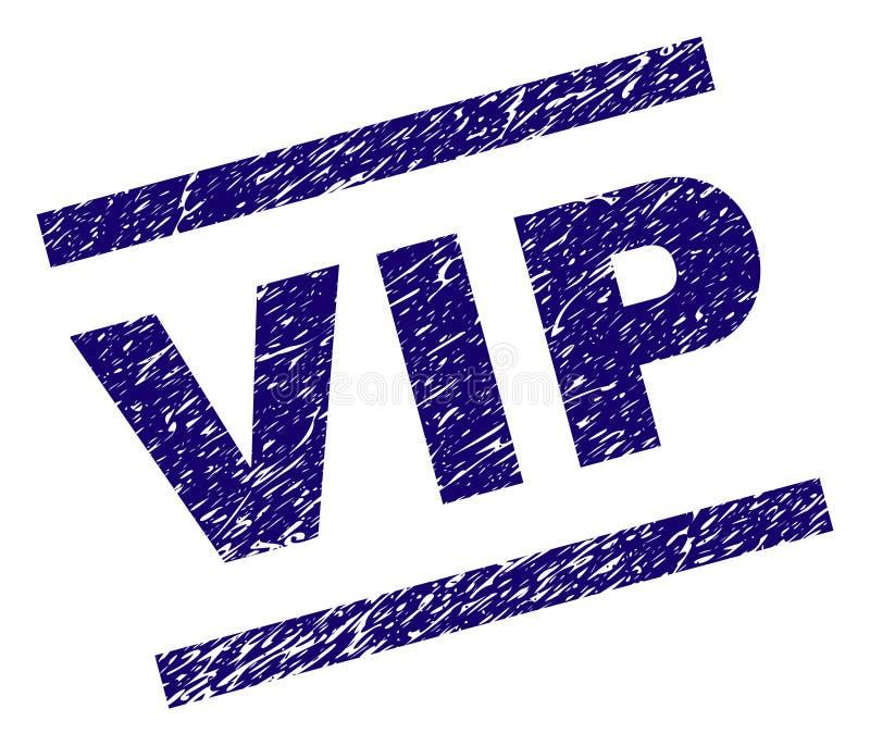 Porysowana Textured VIP znaczka foka ilustracja wektor