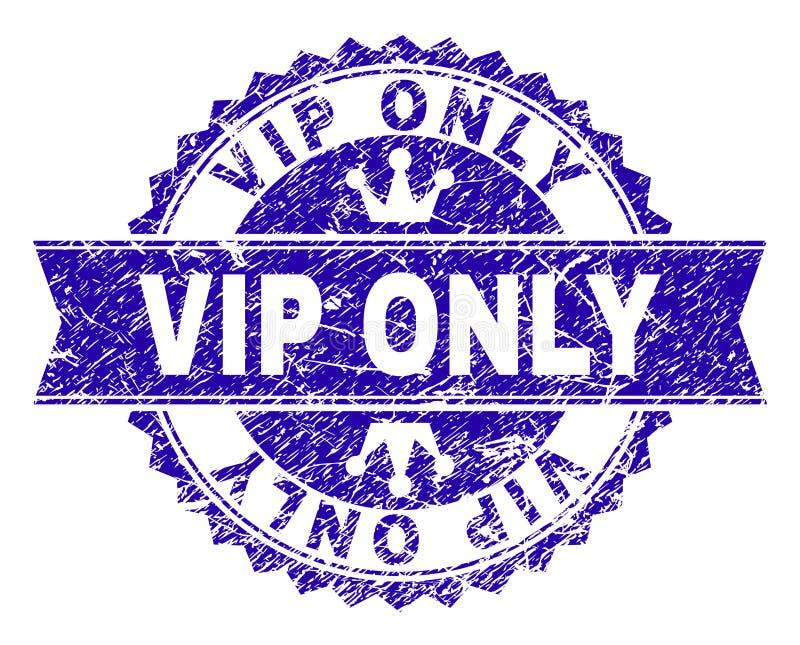 Porysowana Textured VIP znaczka TYLKO foka z faborkiem ilustracja wektor