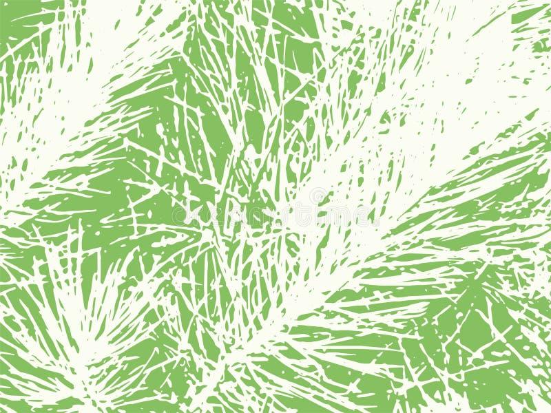 Porysowanej Sosnowej igły Textured Wektorowy tło ilustracji