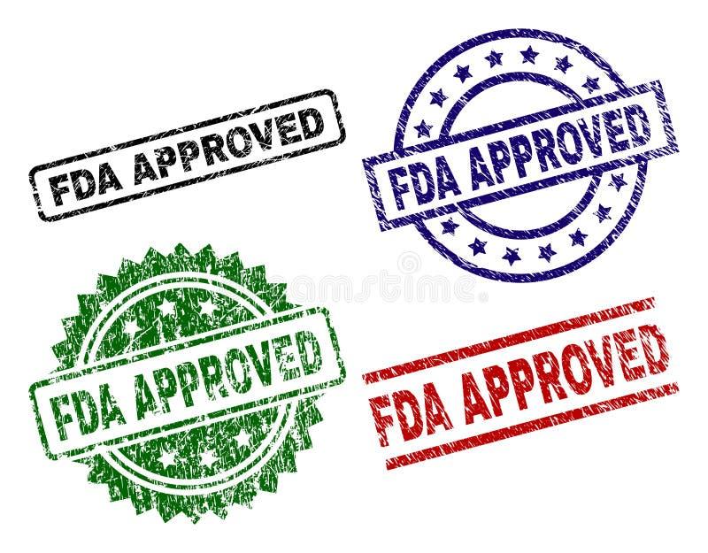 Porysowani Textured FDA ZATWIERDZAJĄCY foka znaczki ilustracji