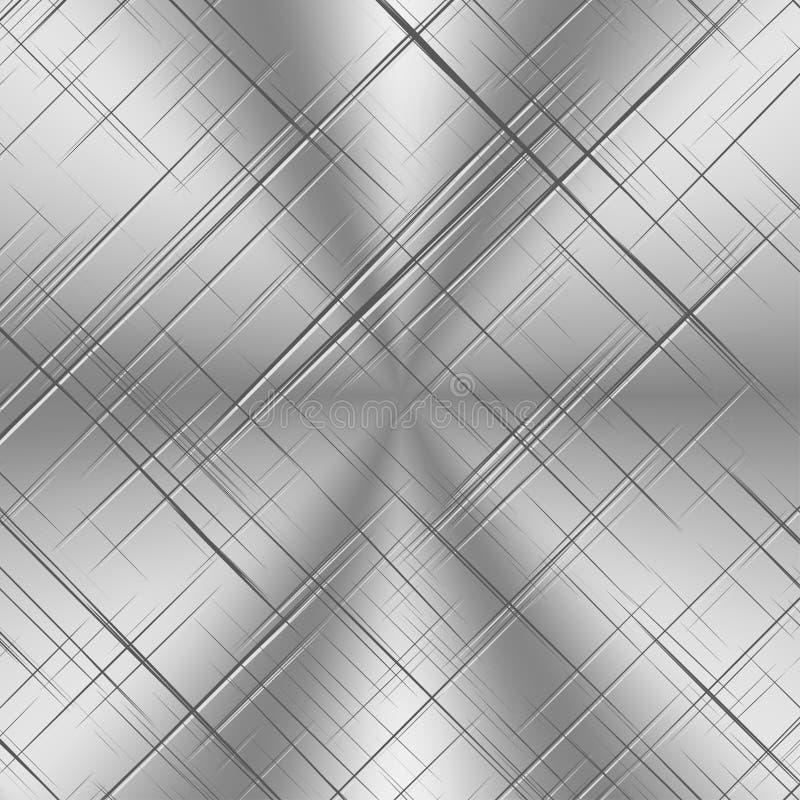 Porysowany Alluminum tło royalty ilustracja