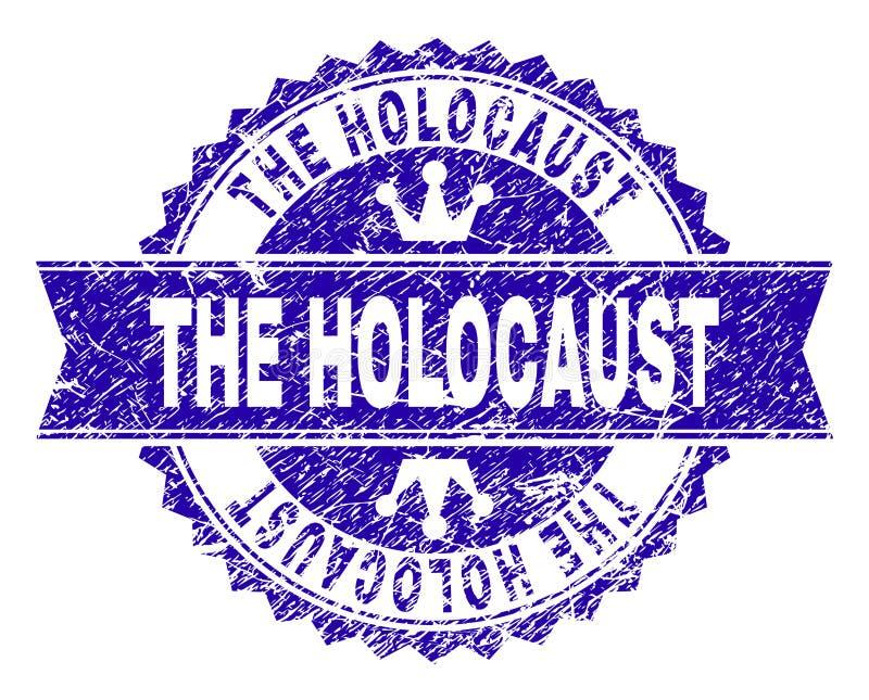 Porysowany Textured holokausta znaczka fokę z faborkiem ilustracji