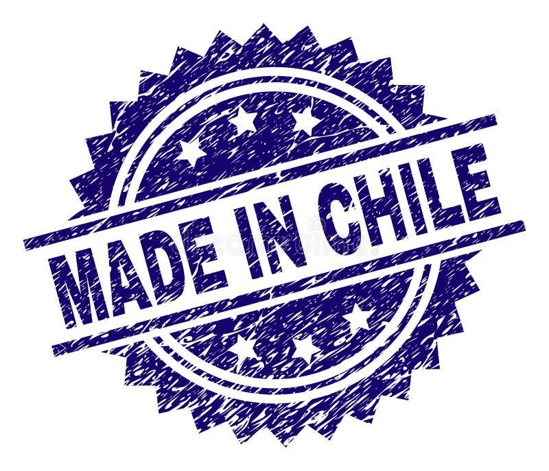 Porysowany Textured ROBIĆ W CHILE znaczka foce royalty ilustracja