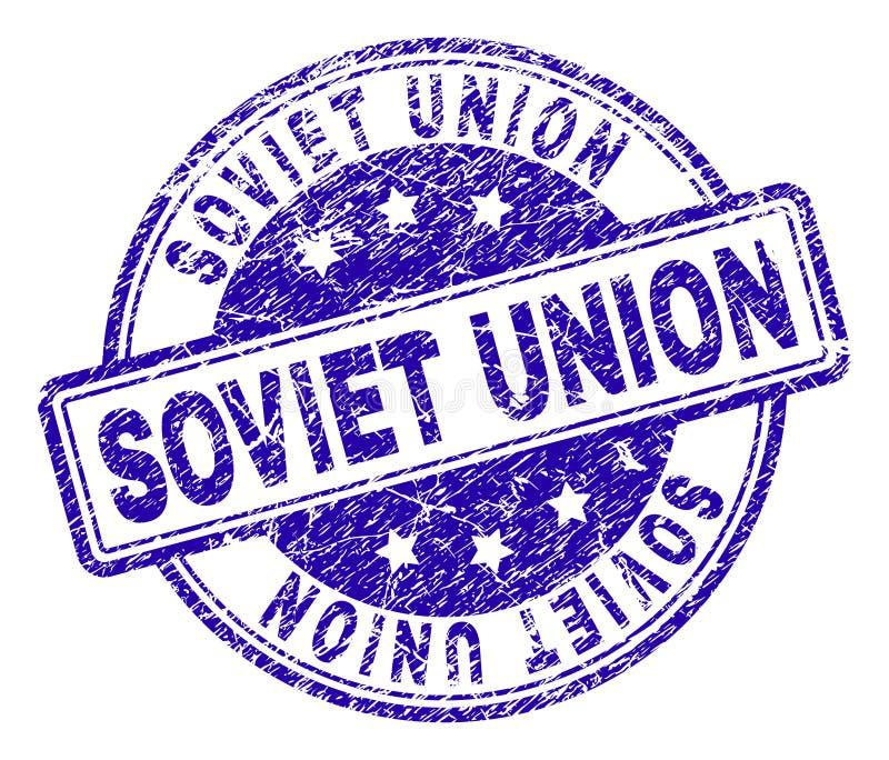 Porysowany Textured sowieci - zjednoczenie znaczka foka ilustracja wektor