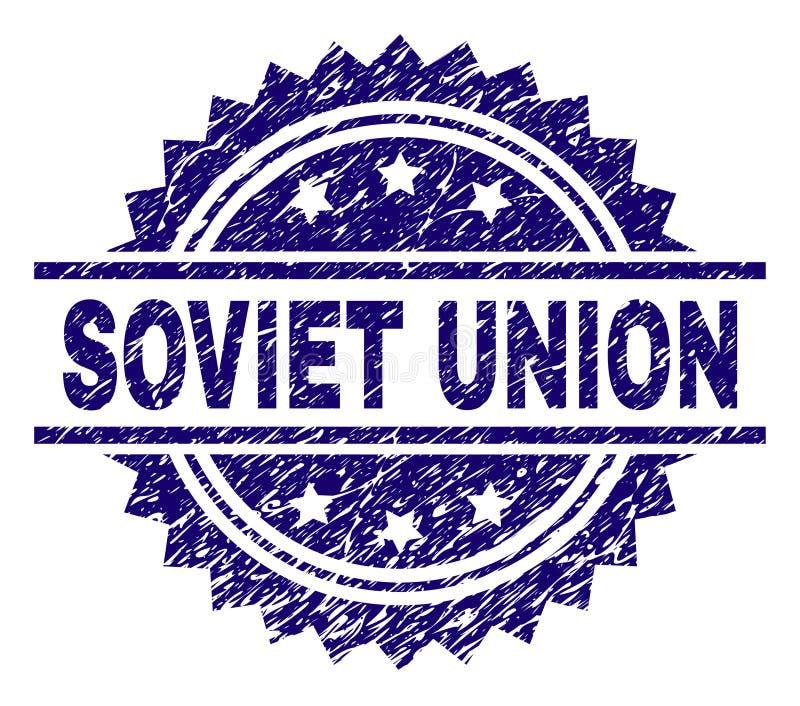 Porysowany Textured sowieci - zjednoczenie znaczka foka ilustracji
