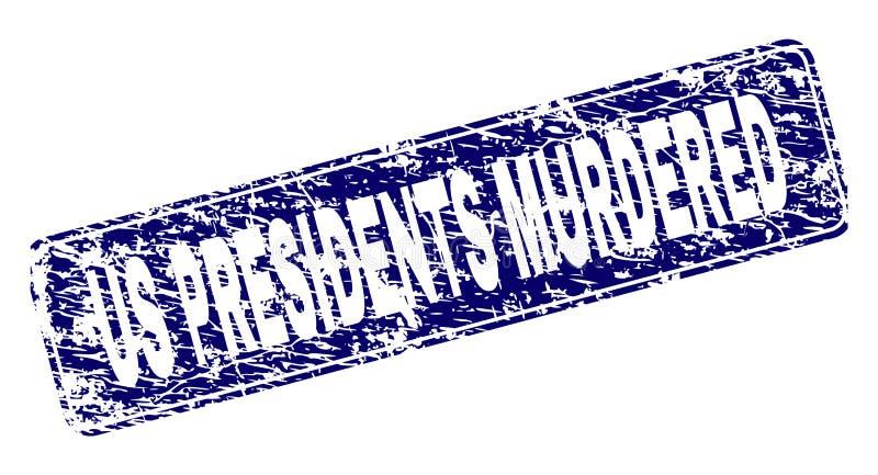 Porysowany USA prezydentów MORDUJĄCY prostokąta Obramiający Zaokrąglający znaczek ilustracja wektor