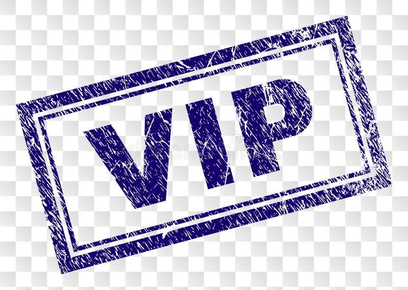 Porysowany VIP prostokąta znaczek ilustracji