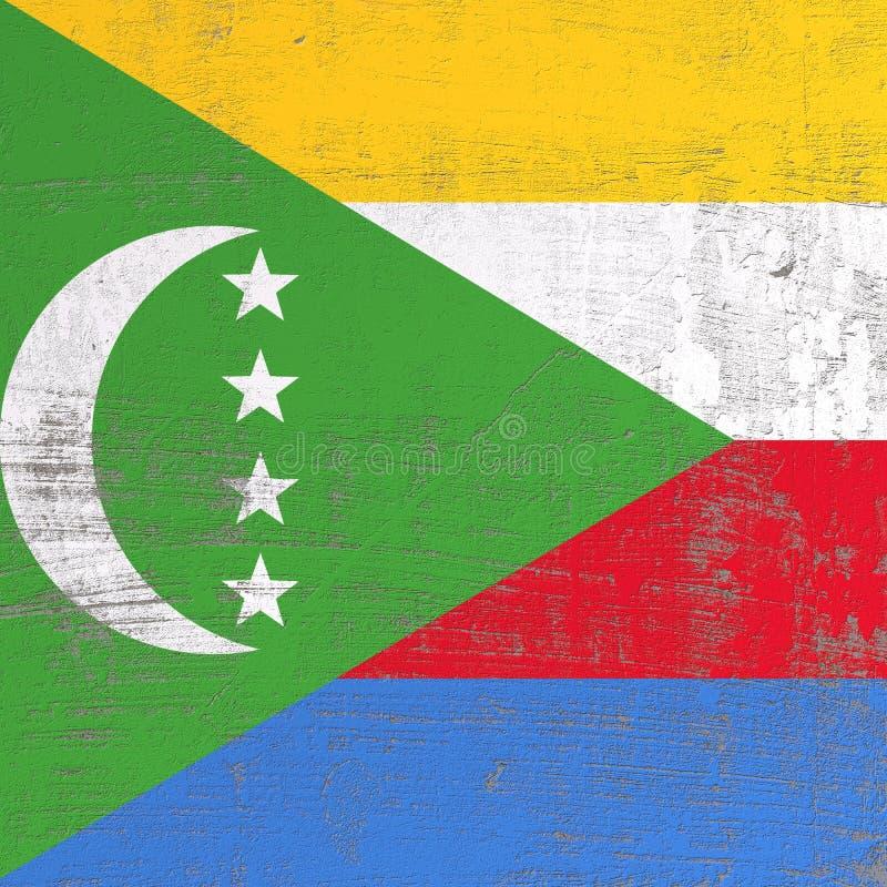 Porysowany zjednoczenie Comoros flaga ilustracji