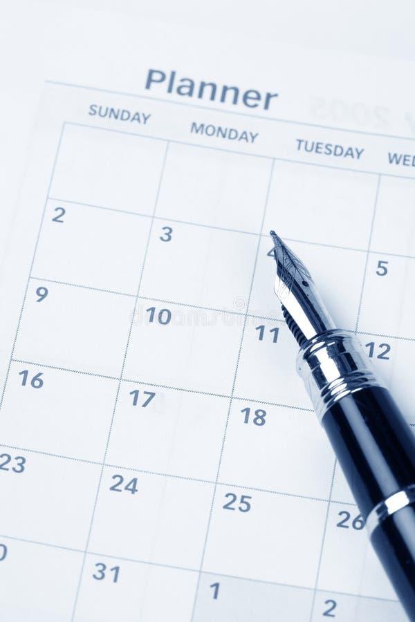 porządek dzienny kalendarz obrazy stock