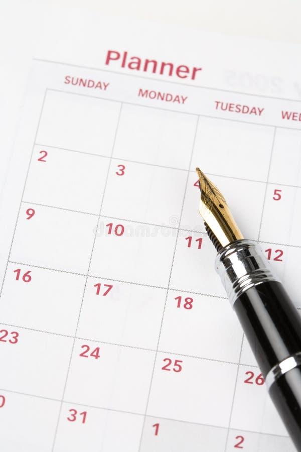 porządek dzienny kalendarz obraz royalty free