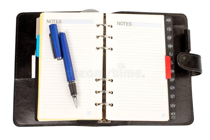porządek obrad otwartych długopis. zdjęcia stock