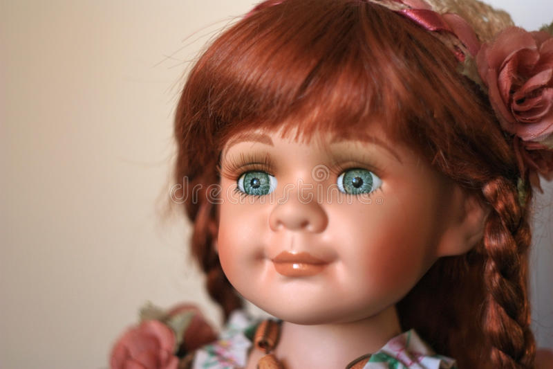 Porzellan Hand-arbeitete Puppe stockfoto
