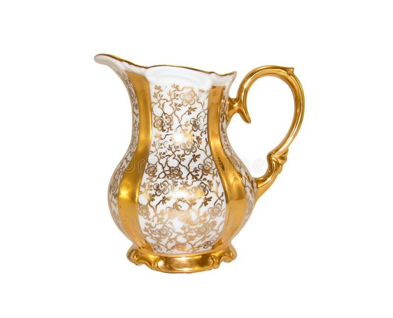 Porzellan milkjug von einem alten antiken Service lizenzfreie stockfotografie
