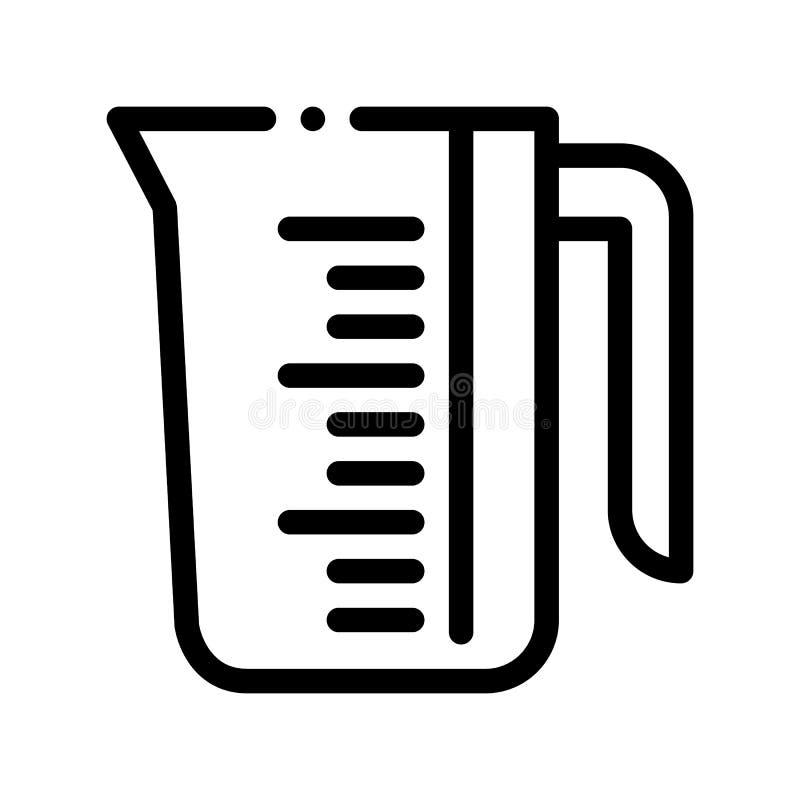 Porzellan-Wäsche-Service-Schalen-Vektor-Linie Ikone lizenzfreie abbildung