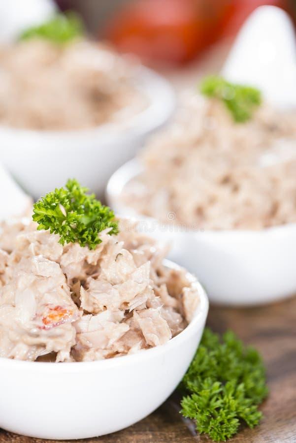 Porzione di insalata di tonno immagini stock