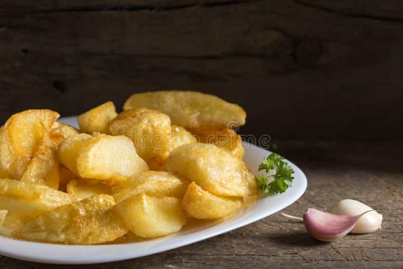 Porzione di patatine fritte casalinghe immagine stock libera da diritti