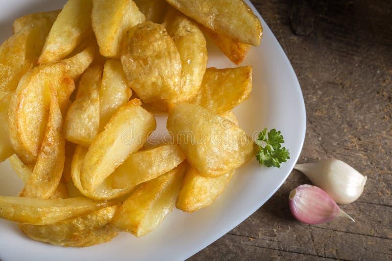 Porzione di patatine fritte casalinghe fotografia stock libera da diritti